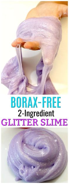 Make Glitter Slime with No Borax! The BEST Glitter Slime Recipe is part of DIY crafts Slime - Learn to make glitter slime with only 2 ingredients! This glitter glue slime recipe only requires 2 simple ingredients to make the perfect slime recipe Glitter Glue Slime Recipes, Slime No Glue, Glitter Slime, Glitter Eyeshadow, Glitter Bomb, Glitter Makeup, Glitter Force, Glitter Balloons, Glitter Crafts