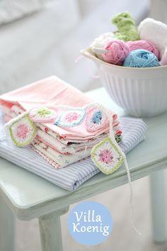 crochet / pastel crochet bunting