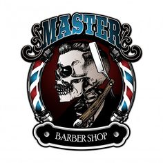 Barber Poster, Barber Logo, Barbershop Design, Barbershop Ideas, Beard Haircut, Dragon Ball Gt, Salon Design, Art Logo, Bull Terrier