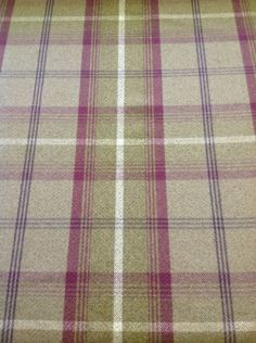 Balmoral tartan per metre Love the colours in this one. the soft plums against the off green hues. Cosy Dining Room, Dinning Chairs, Caravan Upholstery, Tartan Carpet, Green Lounge, Plaid Bedding, Tartan Fabric, Heather Green, Carpet Stairs