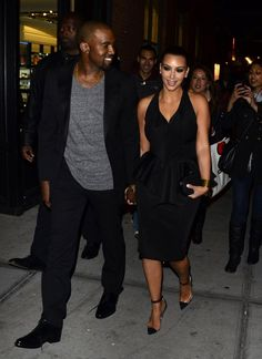 Pin for Later: Kim Kardashian and Kanye West Sure Have a Lot of Sweet Moments Together — See Them All!  Kanye and Kim held hands after dinner in NYC in April 2012.