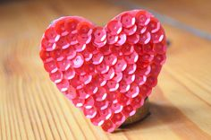 red mat heart bride hairpin red hairclip by ZuckerstueckBerlin