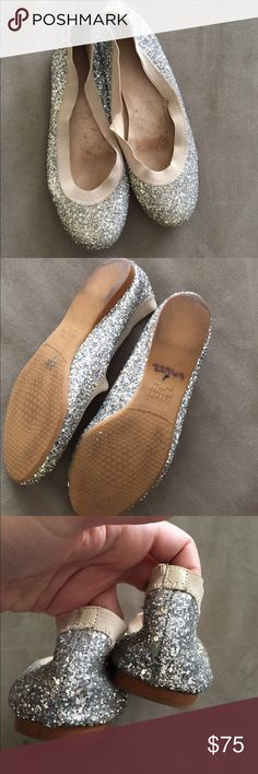 Stuart weitzman glitter flats condition as shown and reflected in price. This item is in good condition but it has been worn please ask any questions before purchasing. This item will only be traded for an autographed Authentic Chanel original, a Lamborghini, a penthouse in Paris, or the services of an Audi mechanic. All orders will be recorded before shipping. I do not model. Please see my reasonable offer chart before submitting an offer. Stuart Weitzman Shoes Flats & Loafers