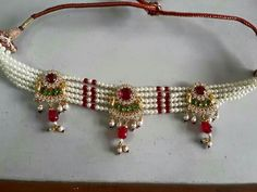 Dulhan Jewellers Pali call 9828283403 Ruby Jewelry, India Jewelry, Wedding Jewelry, Gold Jewelry, Rajput Jewellery, Jewelry Design, Designer Jewellery, Pendant Earrings, Jewelry Collection