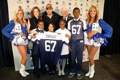 (L-R) Charlotte Jones Anderson, Enrique Iglesias and Major George Hood announce Enrique Iglesias will kick off the 120th Anniversary Of The Salvation Army Red Kettle Campaign during halftime at the Dallas Cowboys Thanksgiving Day Game at Madison Square Garden on November 4, 2011 in New York City.