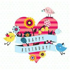 Birthday Quotes : Vector Happy Birthday and I Love You backgrounds and cards with cute cartoon birds Happy Birthday Tag, Happy Birthday Celebration, Happy Birthday Pictures, Happy Birthday Quotes, Happy Birthday Greetings, Birthday Love, Birthday Messages, Happy Birthday Cartoon Images, Bday Cards