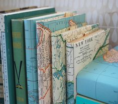 DIY Map Printed Book Covers | The Interior ProjectThe Interior Project | See more about book covers, maps and diy.