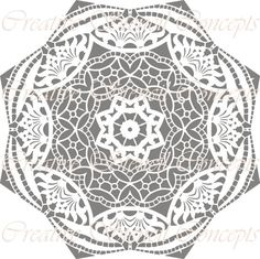 Traditional Mandala  Decorative Stencil - this would be great for stamping concrete, definitely a walkway of sorts