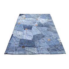 tapis bleu | carving tapis modernes tapis en jean back bleu carving