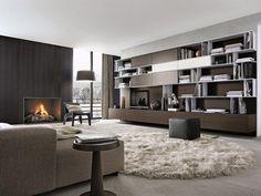 POLIFORM: Skip bookcase, Soho sofa, BB armchairs, Anna coffee table and Play pouf