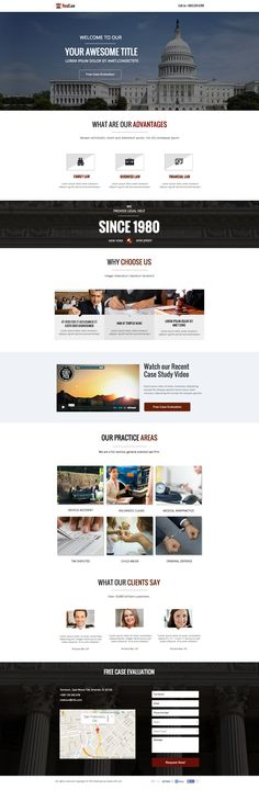 See the live template on Themeforest ➜ http://themeforest.net/item/ultimate-pack-instapage-landing-pages-for-law/9491707