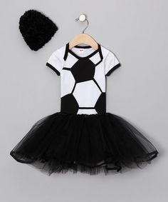 Black Soccer Tutu Set by Team Spirit Collection on #zulily today!