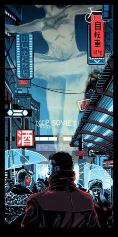 Blade Runner 2049 poster by Tim Doyle. Cyberpunk 2077, Ville Cyberpunk, Cyberpunk City, Arte Cyberpunk, Blade Runner Art, Blade Runner 2049, Blade Runner Wallpaper, Blade Runner Poster, Movie Posters