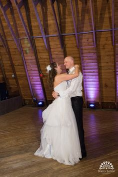 Amy and Peter dancing at their reception.  Photo courtesy of @ssuttonphoto.