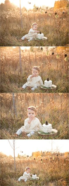 Cake Smash Baby Outdoor Photography First Birthday