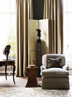 subtle palette / beige / grey / sculptures / armchairs / by DM Douglas Mackie Design (london) / details