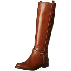 Enzo Angiolini Women's Edosa Riding Boot ($75) ❤ liked on Polyvore featuring shoes, boots, knee high leather riding boots, black knee high boots, knee high leather boots, leather boots and genuine leather riding boots