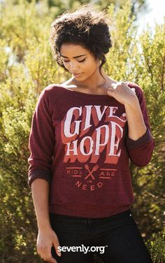 This is MORE than a cute, comfy sweater... it turns hunger into HOPE for a child in the Philippines! This and any other product HERE feeds a child for a whole month! >> http://www.sevenly.org/?cid=PINTERESTveronica