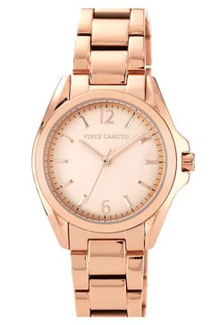 Vince Camuto Curved Crystal Bracelet Watch, 32mm available at #Nordstrom