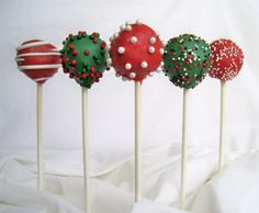 Cake Pops Christmas Cake Pops Made with High by TheSweetSource on we heart it / visual bookmark #18219362