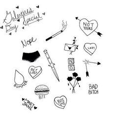 stick n poke Bild Tattoos, Dope Tattoos, Body Art Tattoos, Small Tattoos, Tattoo Wort, Stick Poke Tattoo, Bff, Handpoked Tattoo, Petit Tattoo