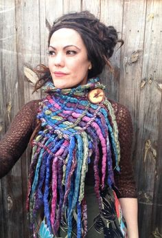 The 'Dreamscape' Felted Woven Scarf of Dreamy Mermaid by Cocoleeko