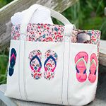 Guest blogger Caroline Critchfield, queen of craft is back with a super cute tote bag design decorated with embroidered flip-flops, the ultimate symbol of summer. An absolute must for going to the beach or a picnic! Read the article for machine embroidery digitizing and sewing instructions.  At the end of this article you will find a link to our Resource Center where you can download the cute FREE flip-flops embroidery design.     Hi! This is Caroline from SewCanShe.com. I'm so...