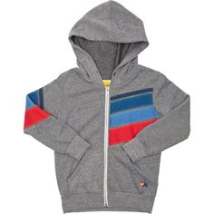 Aviator Nation Stripe Appliqué Hoodie Jacket at Barneys.com