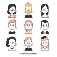 Discover thousands of free-copyright vectors on Freepik People Illustration, Flat Illustration, Character Illustration, Graphic Design Illustration, Doodle Drawings, Cartoon Drawings, Doodle People, Doodle Characters, Note Doodles