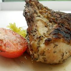 *Greek Chicken: garlic, rosemary, thyme, lemon, oregano E:  This comes out excellent everytime!  I have made it to grill a whole chicken as well as roast pieces...