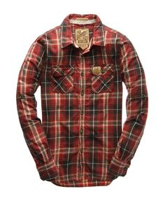 love super dry lumberjacks MEDIUM-SIZED