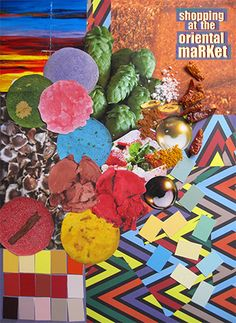 Moodboard: Food Shopping at a oriental market; Colors and patterns.