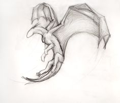 Simple Flying Dragon by ThousandWordsToSay on DeviantArt