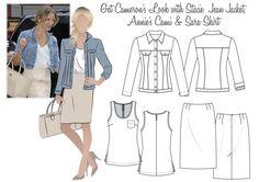 Cameron's Look 1 - Stacie Jean Jacket, Annie's Cami & Sara Skirt
