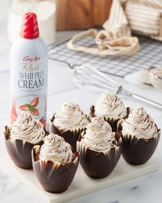Looking for a delicious way to celebrate #NationalChocolateMousseDay this long weekend? Try these adorable chocolate mousse cups, topped with Gay Lea's Real Whipped Cream! 🍫 Chocolate Mousse Cups, Long Weekend, Whipped Cream, Gay, Favorite Recipes, Desserts, Food, Thermomix, Tailgate Desserts