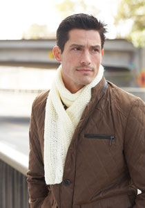 Shaker Rib Scarf (Pattern allows for several different possibilities by changing the ribbing pattern. Also called Men's Interchangeable Scarves.)