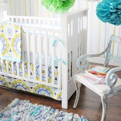 Merry Meadow Baby Bedding : Boys Baby Bedding at PoshTots $376.00