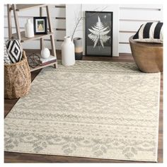 Adron Area Rug - Ivory/Silver (6'x9') - Safavieh, Durable