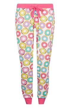 Bas de pyjama à imprimé donuts