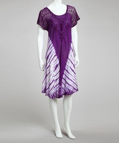 Take a look at this Purple Tie-Dye Dress - Women by SR Fashions on #zulily today!