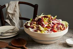 Nancy's Chopped Salad Recipe on Food52, a recipe on Food52 Sin Gluten, Gluten Free, Chopped Salad Recipes, Smitten Kitchen, Recipe Directions, New Cookbooks, Roasted Red Peppers, Food 52, Food Cakes