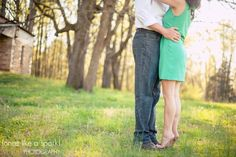 ADORABLE couple, photography ideas, tip toes, tall, short, cute pair, we go together, engagement photography :: Kim + Matt's Engagement Session at Shields Ethridge Heritage Farm in Jefferson, GA :: with Nikki