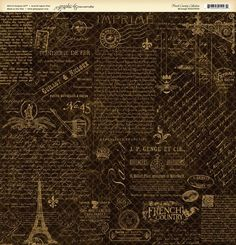"""""""Montage"""" front page from our new collection French Country. Look for it in stores in February! #graphic45 #CHAW2013 #sneakpeeks"""