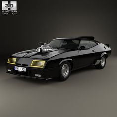 Ford Falcon GT Coupe Interceptor Mad Max 1979 3d model from Humster3D.com