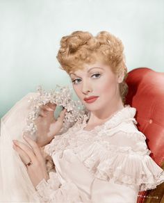 Lucille Ball beautifully colorized by klimbimson Flickr    Lucille Ball, 1940s