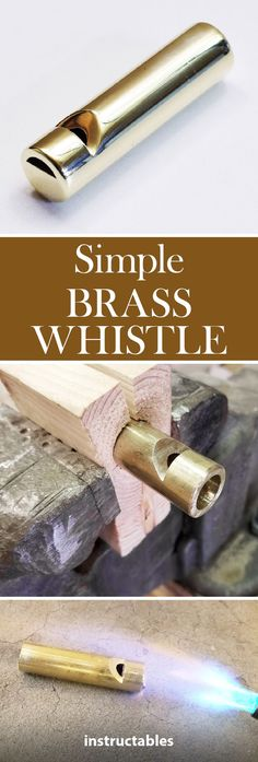 Brass Whistle Make a simple brass whistle on a wood lathe from a solid piece of inch brass rod.Make a simple brass whistle on a wood lathe from a solid piece of inch brass rod. Metal Crafts, Diy And Crafts, Metal Lathe Projects, Welding Projects, Wood Projects, Advantages Of Solar Energy, Wood Lathe, Instruments, Messing