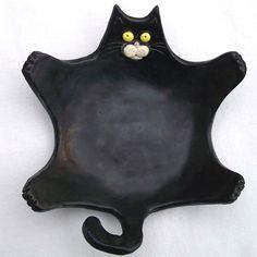 Black Cat Soap/Trinket Dish
