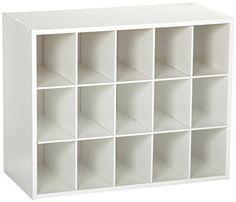 ClosetMaid 8983 Stackable 15-Unit Organizer, White Closet... https://www.amazon.com/dp/B002IT6E6A/ref=cm_sw_r_pi_dp_U_x_w0XlAbQNT1C6B