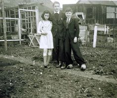 Anne Frank with Hermann and Herbert Wilp, 1941.