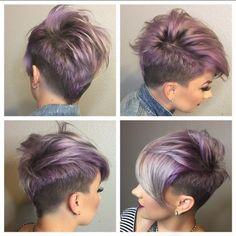 Magst Du Lila & Violett? 11 wunderschöne Kurzhaarfrisuren in der Trendfarbe Violett! - Neue Frisur